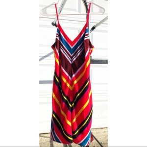 Express stripped spaghetti strap dress.